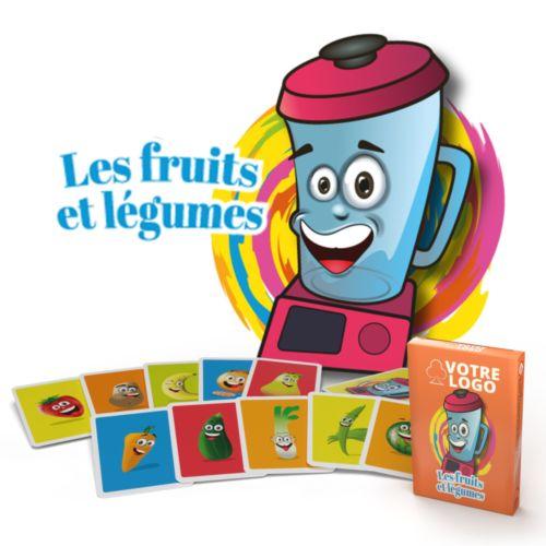 """Jeu de mistigri """"Fruits et légumes"""" - 22 cartes"""