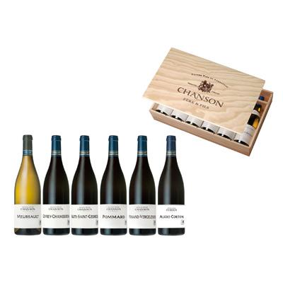 """Vins de Bourgogne Coffret caisse bois 6 bts à plat """"DUCS DE BOURGOGNE"""""""