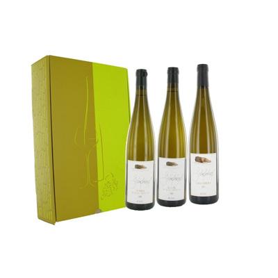 """Vins d'Alsace COFFRET 3 bts """"SCHIEFERKOPF"""""""