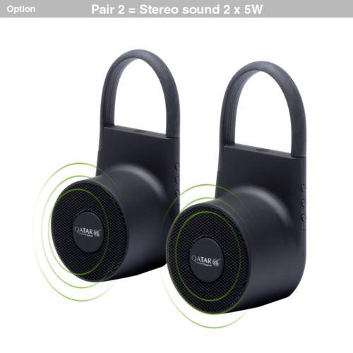 Lann, Enceinte étanche Bluetooth 5W. STOCK.  AZAP  Objets publicitaires personnalisé par Azap articles promotionnels Cadeau d'affaire