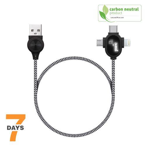 Cable 3en1 charge et transfert Xpress STOCK