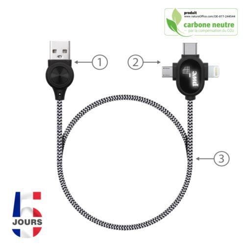 Câbles de charge et de données 3en1