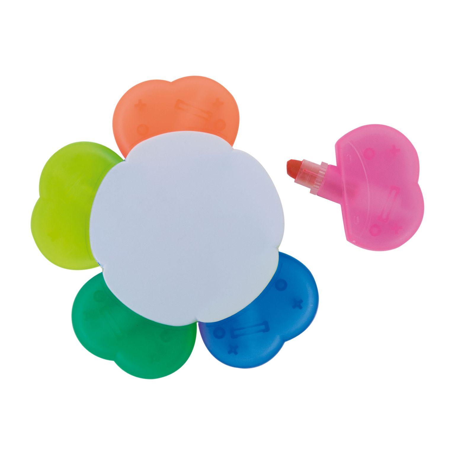 Surligneur cire 5 couleurs