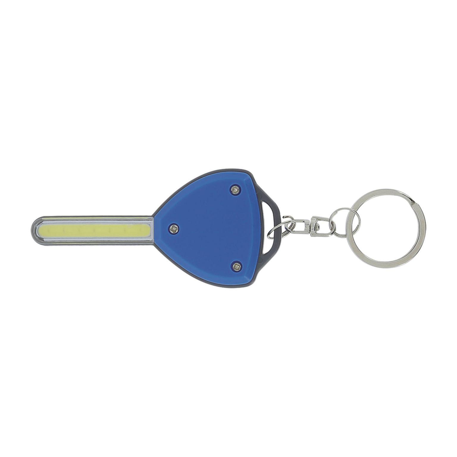 Porte-clés torche forme clé
