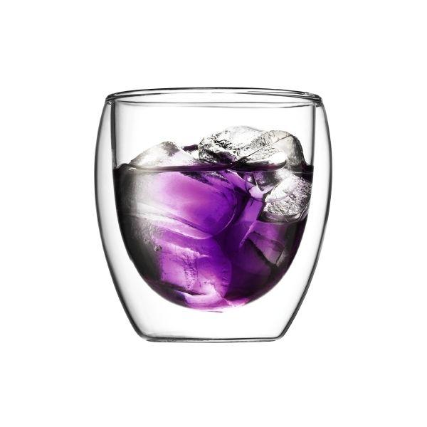Set 6 verres, double paroi, 0.25 l