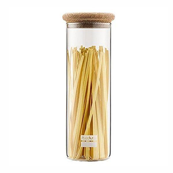 Bocal spaghetti en verre, 1.9 l, couvercle liège