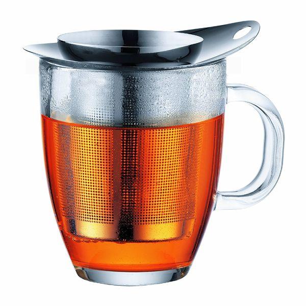 Set mug en verre, filtre en nylon, 0.35 l