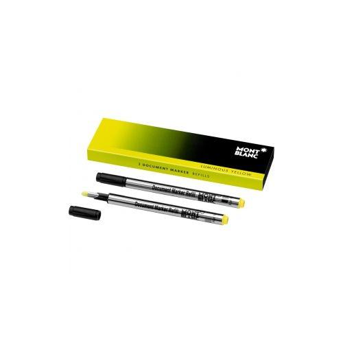 Les accessoires d'écriture :  Recharges pour surligneur Jaune Lumineux X2