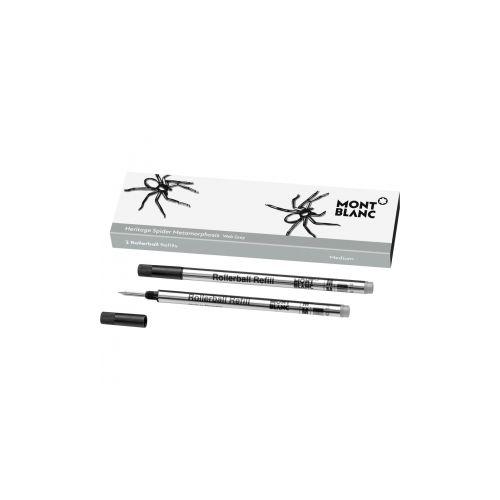 Les accessoires d'écriture :  2 recharges pour rollerball (M), Heritage Spider