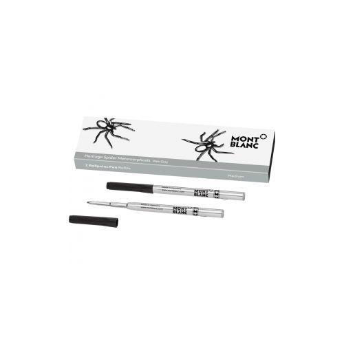Les accessoires d'écriture :  2 recharges pour stylo bille (M) Heritage Spider