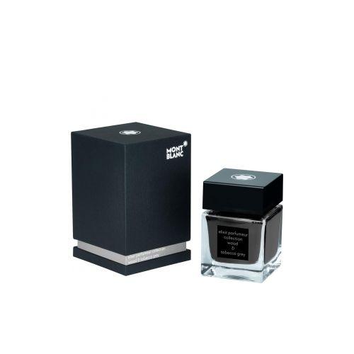 Les accessoires d'écriture :  Flacon d'encre Elixir Parfumeur, Wood & Tobacco