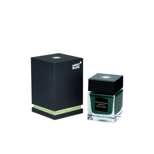 Les accessoires d'écriture :  Flacon d'encre Elixir Parfumeur, parfum Vétiver, 50 ml