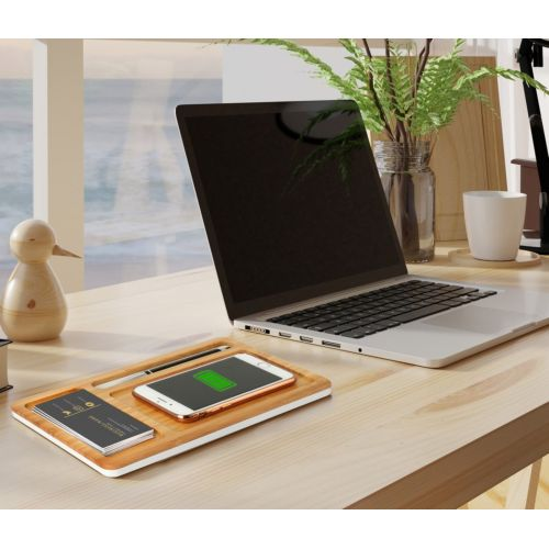 Wireless charger bamboo