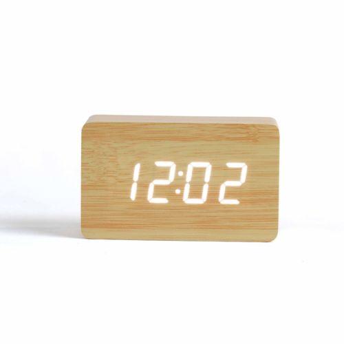 Horloge digitale aspect bois, Objet personnalisable, comité social économique