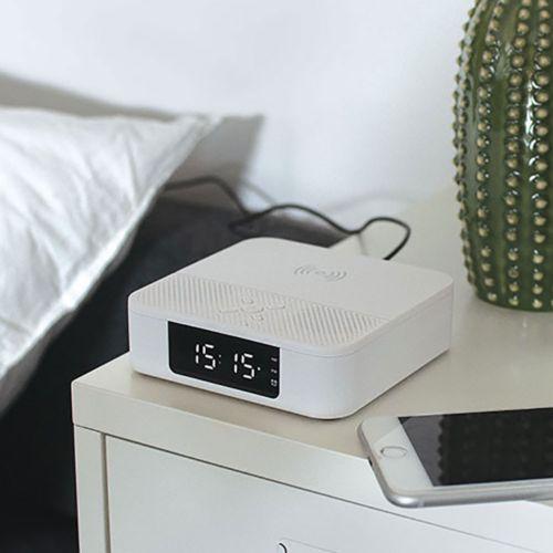 Enceinte réveil chargeur sans fil 10W
