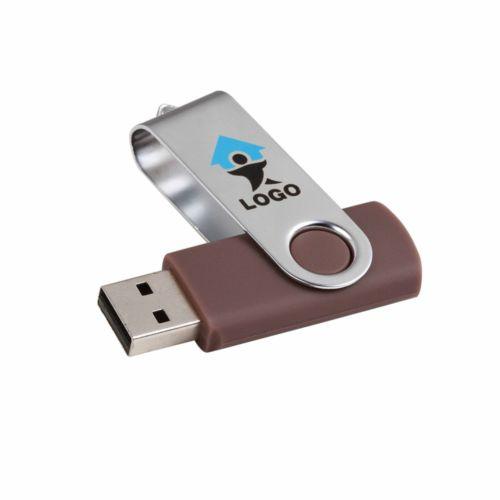 clé USB plastique marron