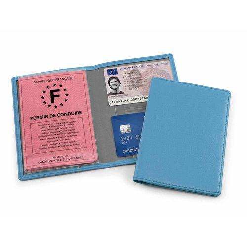 Protège carte grise en simili de couleur