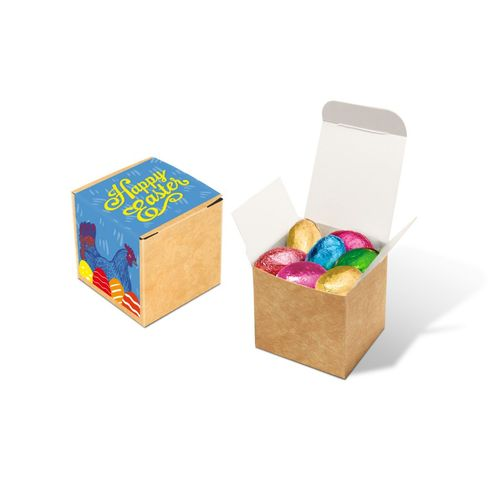 Cube kraft - Œufs en chocolat