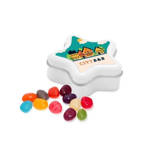 Boite métallique étoile - Jelly Bean