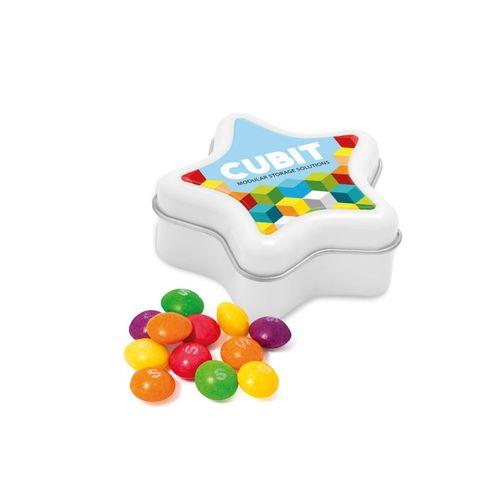 Boite métallique étoile - Skittles