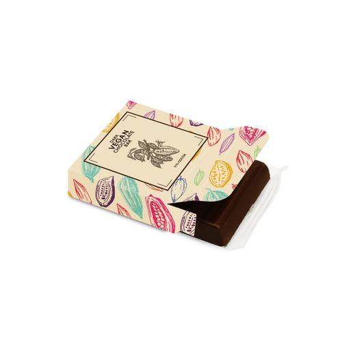 Boite carton 3 Barres - Barre de chocolat noir végan   PHOSPHORESCENCE 267, rue François Perrin par PHOSPHORESCENCE