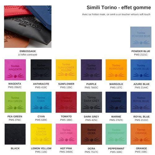 Pochette zippée 318 x 245 x 10 mm en simili de couleur