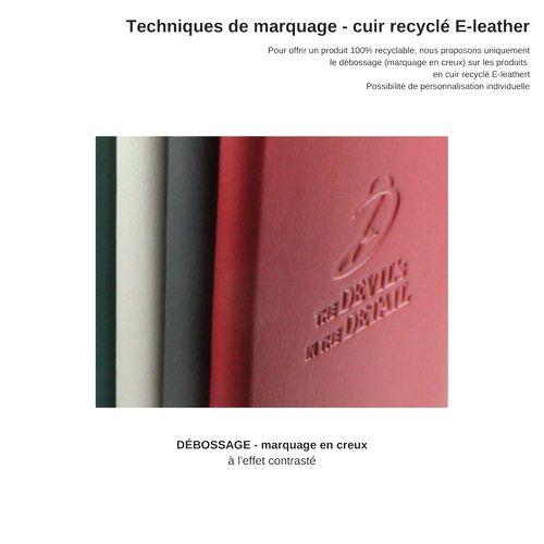 Pochette zippée 200 x 150 x 75 mm en cuir recyclé E-Leather