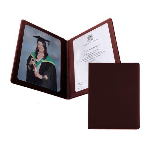 Protège document A4 en cuir Hampton de couleur