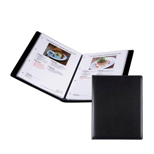 Protège document A4 (4 pochettes) en simili de couleur