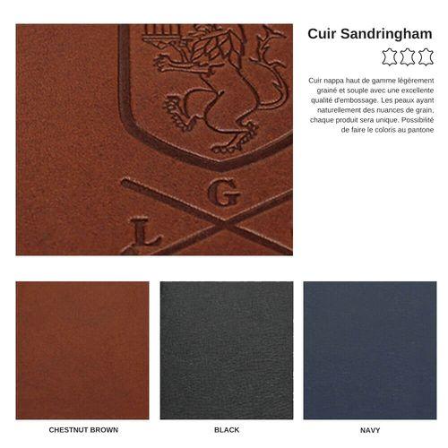 Porte addition en cuir Kensington ou Sandringham