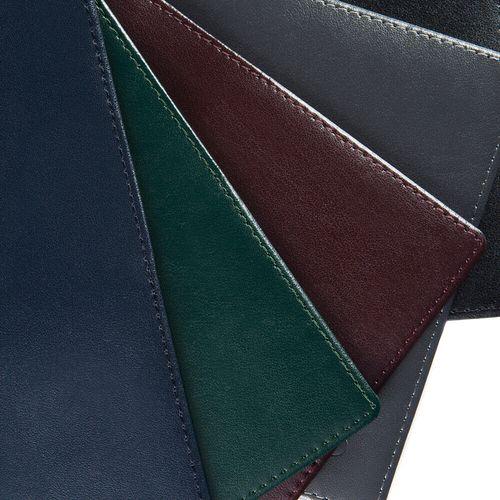 Pancarte de poignée de porte en cuir Hampton de couleur
