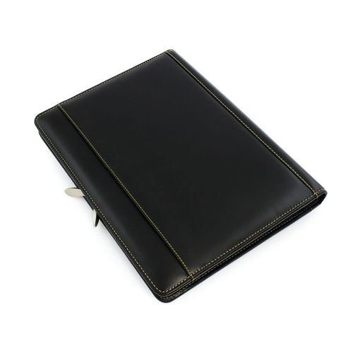 Conférencier zippé A4 en cuir Sandringham de couleur