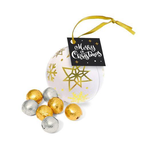 Boule métallique - Boules en chocolat