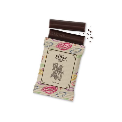 Papier kraft - Barre de chocolat noir végan