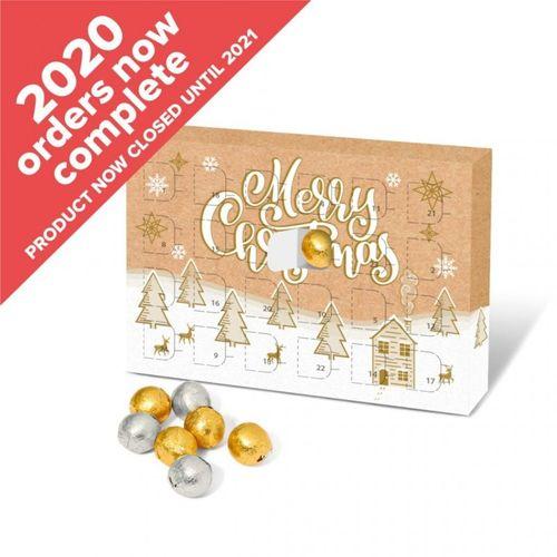 Calendrier de l'Avent A5 - Boules en chocolat Noël