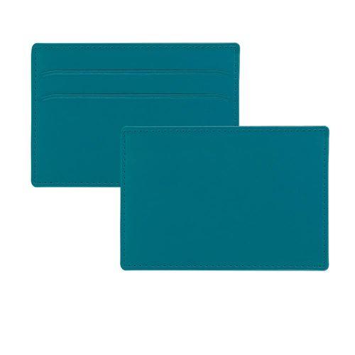 Porte-cartes slim anti-RFiD en simili de couleur
