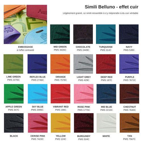 Trousse zippée 185 x 180 x 20 mm en simili de couleur