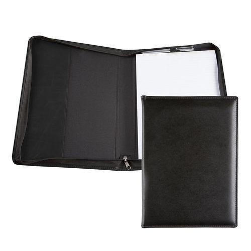 Conférencier zippé A4 en cuir recyclé E-Leather