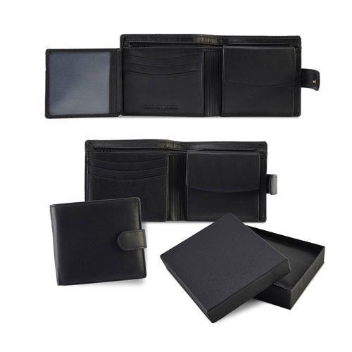 Portefeuille avec porte monnaie en cuir Sandringham