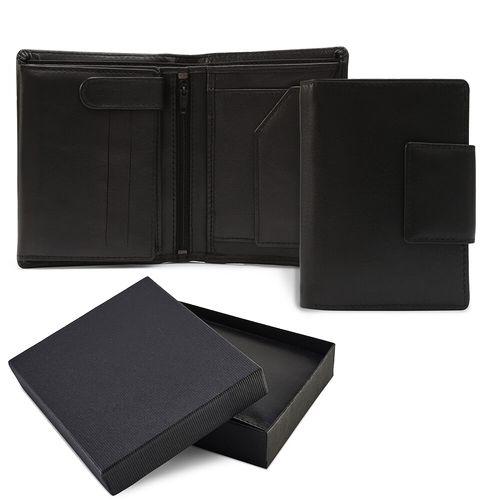 Portefeuille avec porte monnaie zippé en cuir Sandringham