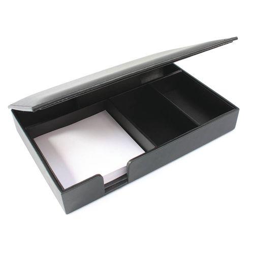 Porte bloc papier et cartes de visite en cuir Sandringham au pantone