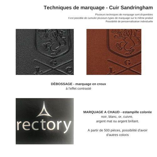 Protège carnet A5 en cuir Sandringham au pantone