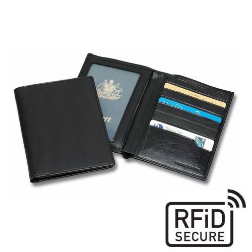 Protège passeport anti-RFiD en cuir Sandringham