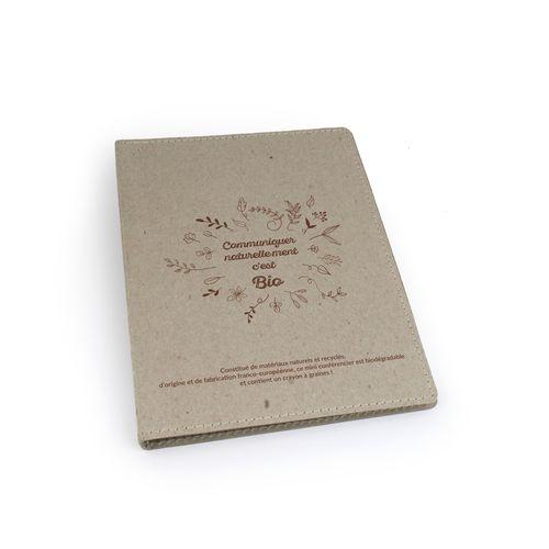 Conférencier format A5 + crayon à graines, Objet personnalisable, comité social économique