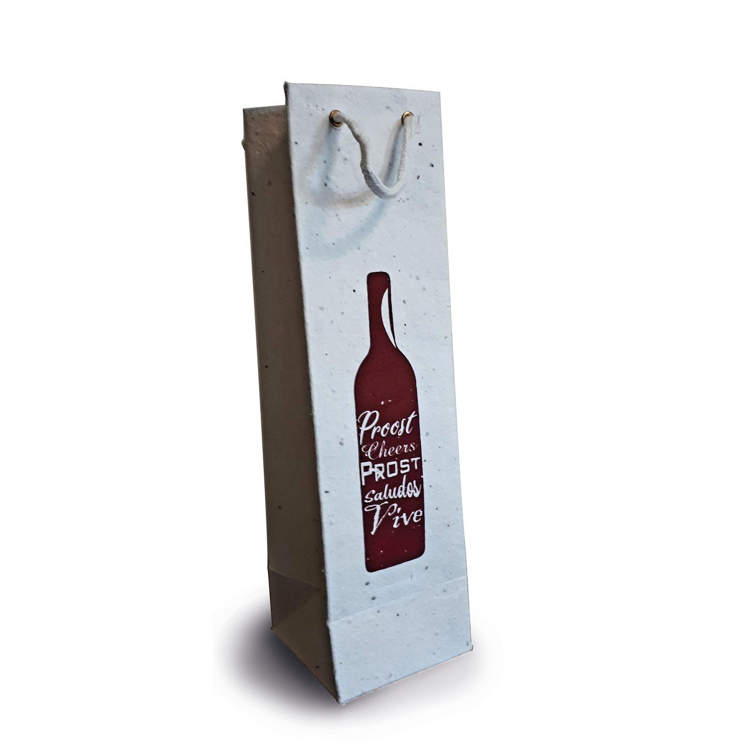 Sac à bouteille à semer Objets publicitaires  personnalisation  FRANCE SUD PIERRE IDEES NATURE goodies personnalisation marseille