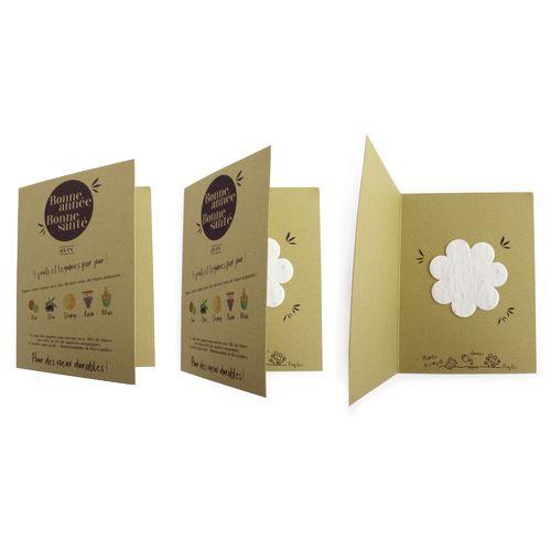Carte en papier végétal
