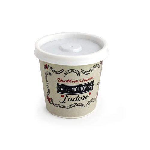 Insectes apéritifs en boîte ou pot carton