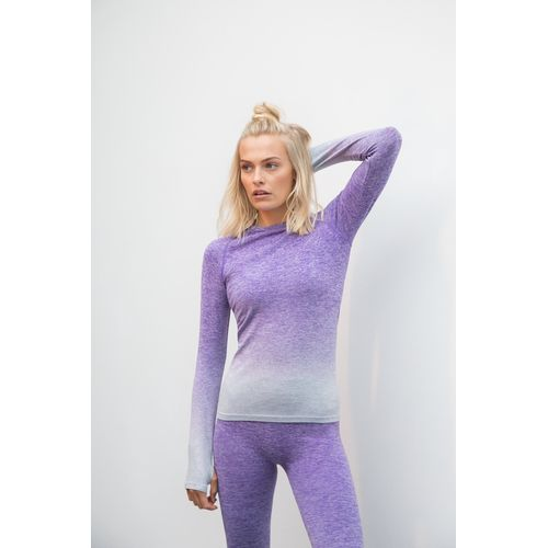 LADIES' SEAMLESS FADE OUT LONG SLEEVED TOP