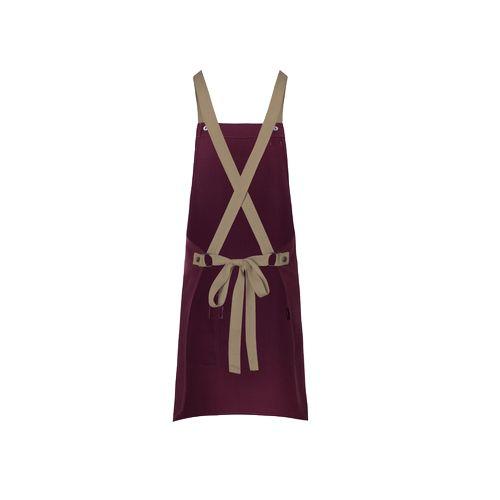 Bib Apron Urban-Look with Cross Straps and Pocket  personnalisé montpellier Paris Ile de France