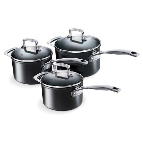 SET 3 CASSEROLES LES FORGEES 16,18,20CM+COUVERCLE